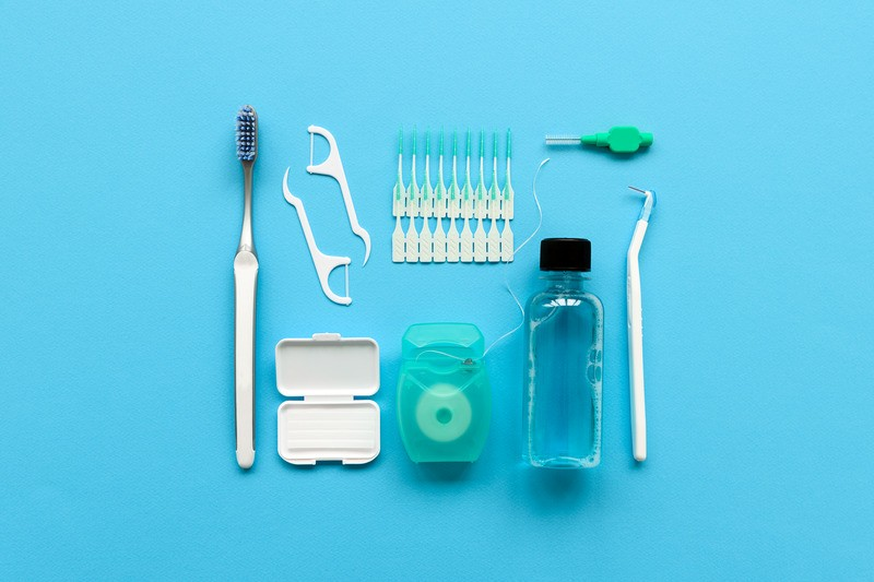 Dental hygiene and care concept