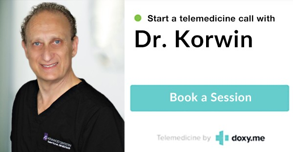 Book a Telemedicine Appointment with Dr. Korwin