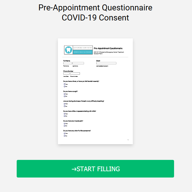 Pre-Appointment Questionnaire COVID-19 Consent