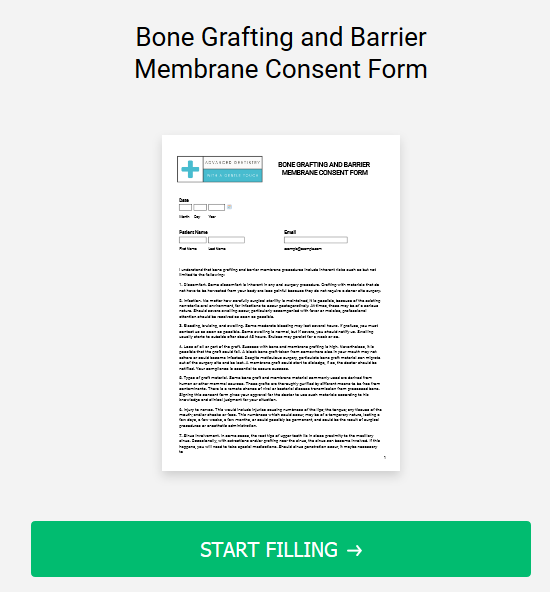 Bone Grafting and Barrier Membrane Consent Form