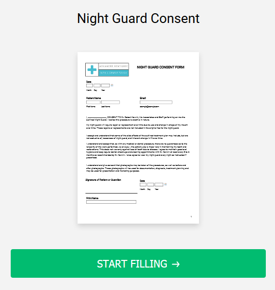 Night Guard Consent Form
