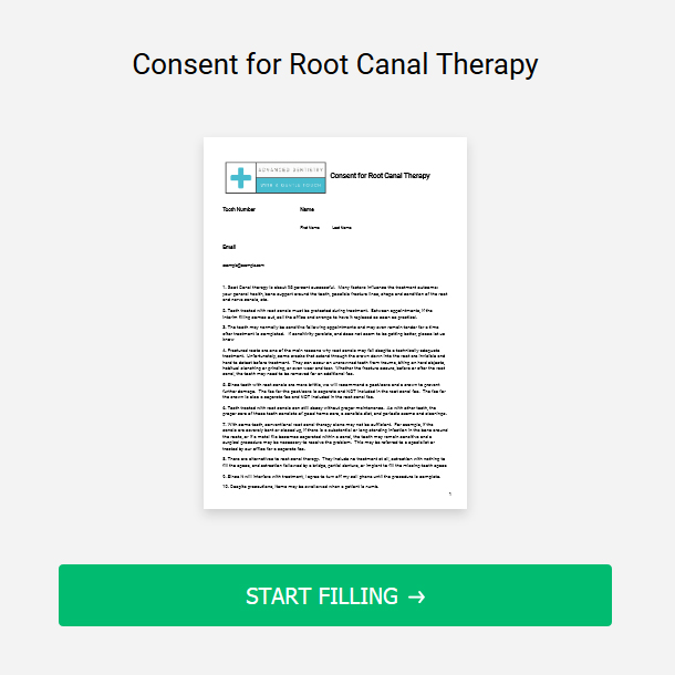 Consent for Root Canal Therapy