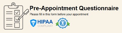 Pre Appointment Questionnaire