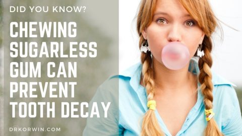 Chewing sugarless gum can prevent tooth decay